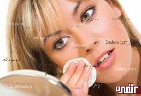 در پایان روز آرایش خود را حتما پاک کنید