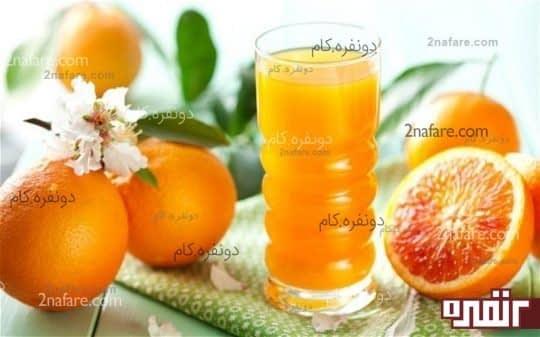 آب پرتقال و رنده ی پوست پرتقال