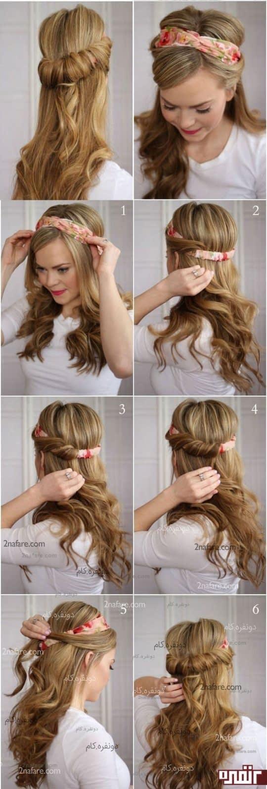 مدل موی شیک دخترونه به کمک هدبند