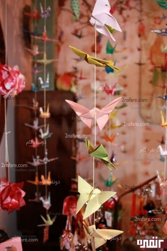 آموزش ساخت پروانه ی کاغذی به روش اوریگامی