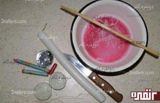 وسایل مورد نیاز برای ساخت شمع گل رز