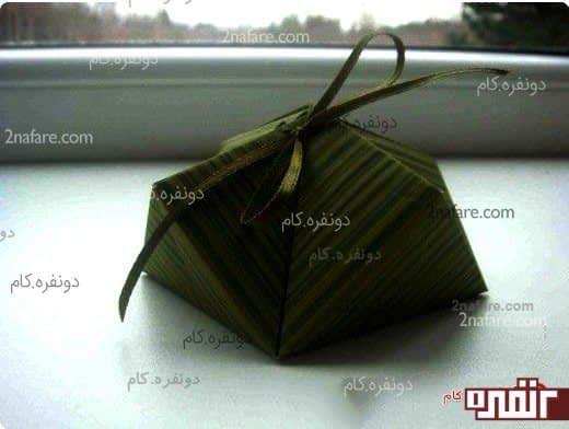 جعبه کادو به روش اوریگامی