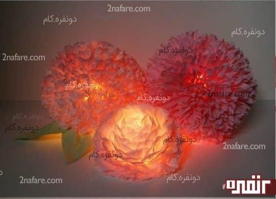 چراغ خواب گل کاغذی
