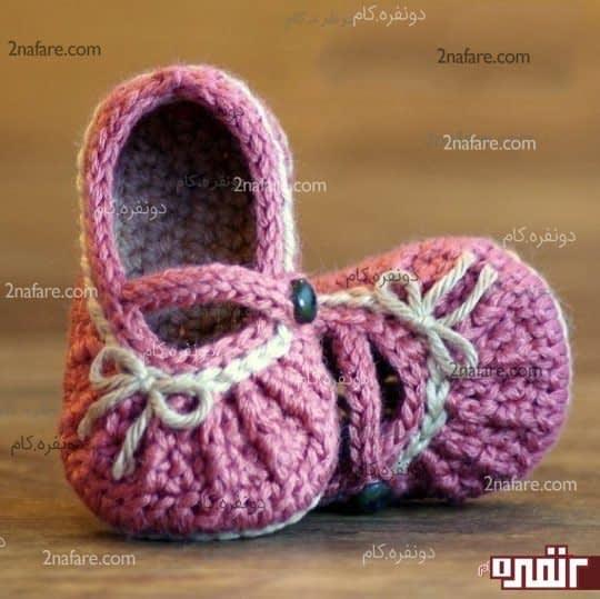 کفش بافتنی دخترانه