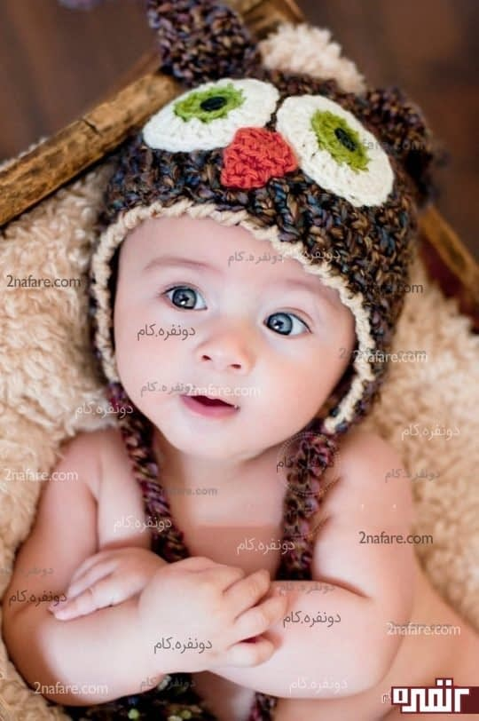 کلاه بافتنی جغد بچگانه