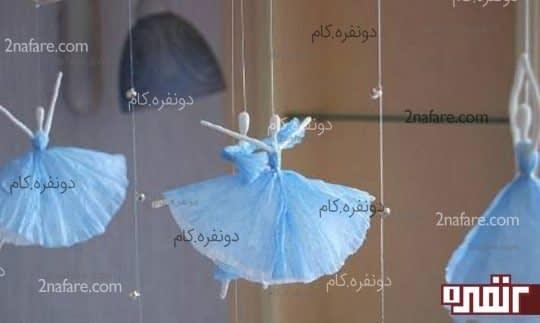 آموزش ساخت فرشته های آویز با دستمال کاغذی