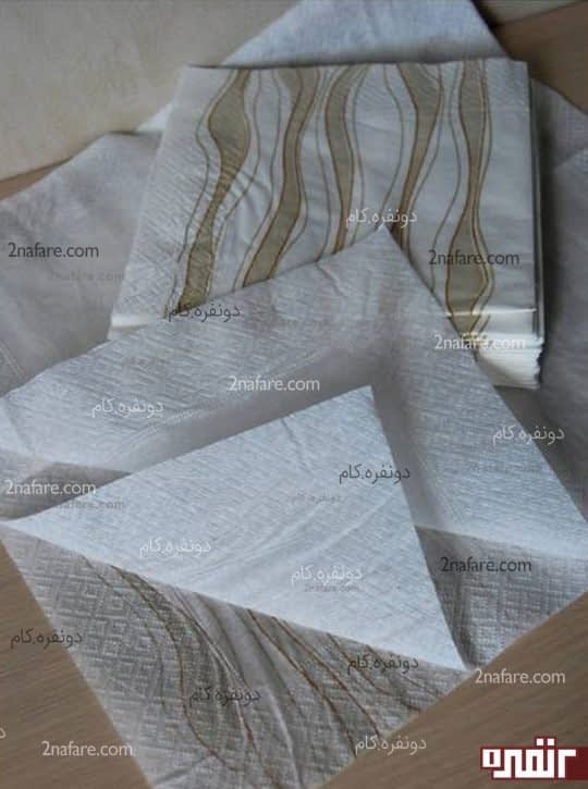 جدا کردن لایه های دستمال کاغذی