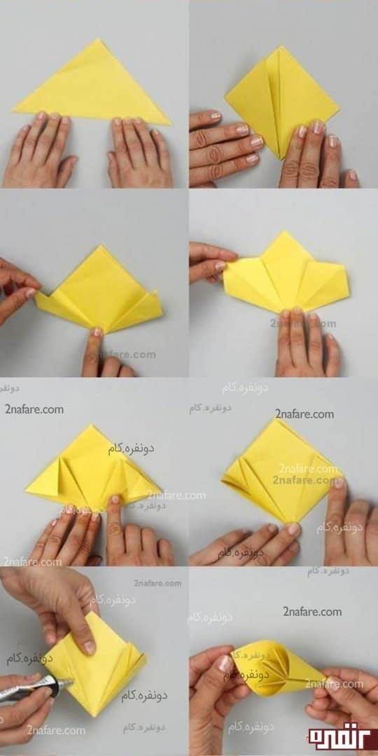 آموزش ساخت گل اوریگامی