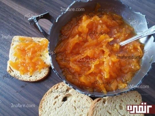 مربای خوشمزه و خوشرنگ هویج