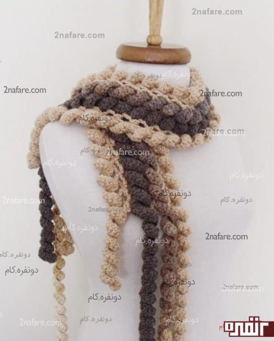 مدل کاموا در بافت شال گردن