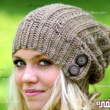 مدل کلاه دخترانه بافتنی