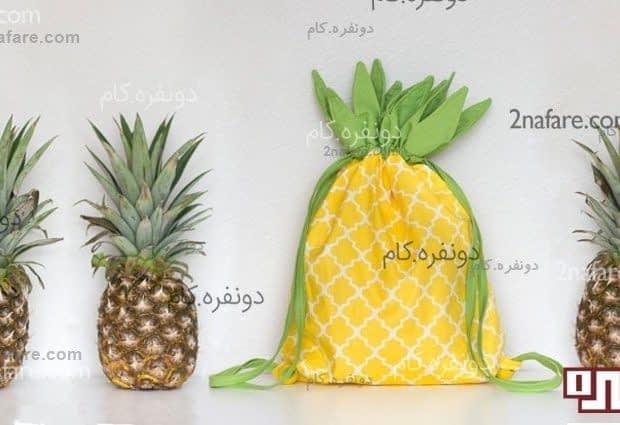 آموزش دوخت کوله پشتی آناناسی به صورت مرحله به مرحله