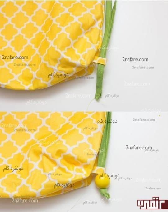 وصل کردن بند کوله پشتی آناناسی