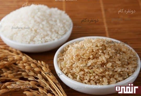 تفاوت بین برنج سفید و قهوه ای
