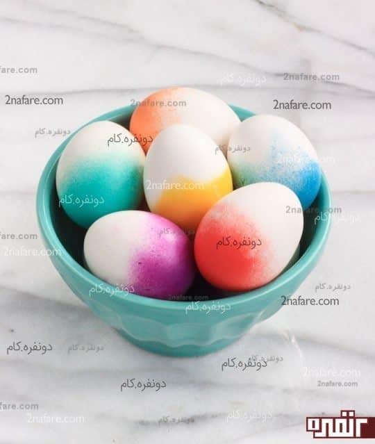 تخم مرغ دو رنگ برای هف سین