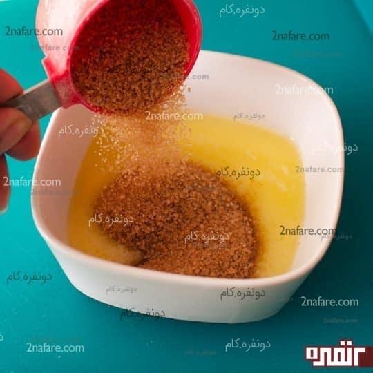 ترکیب کره و شکر و دارچین
