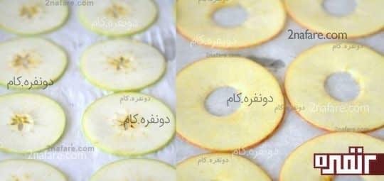 سیب های حلقه شده