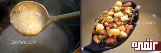 مراحل پخته شدن گوشت و حبوبات