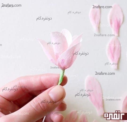 آموزش ساخت شکوفه های کاغذی