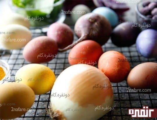 تخم مرغ رنگی عید