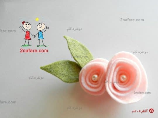 آموزش ساخت گل سر نمدی