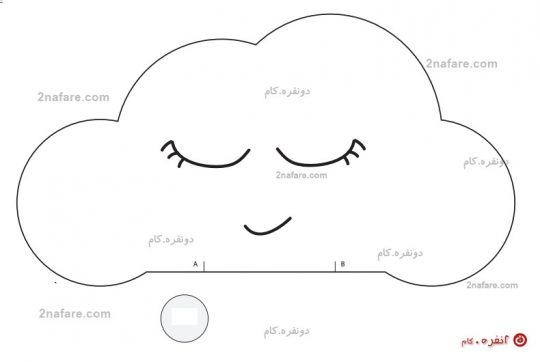 الگوی تنه و دایره ی لپ ابری