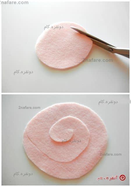 برش های مارپیچ داخل دایره بزنید.