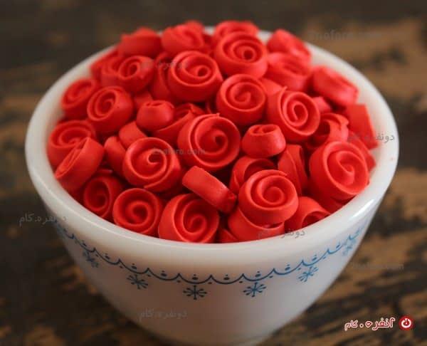مرنگ های به شکل گل