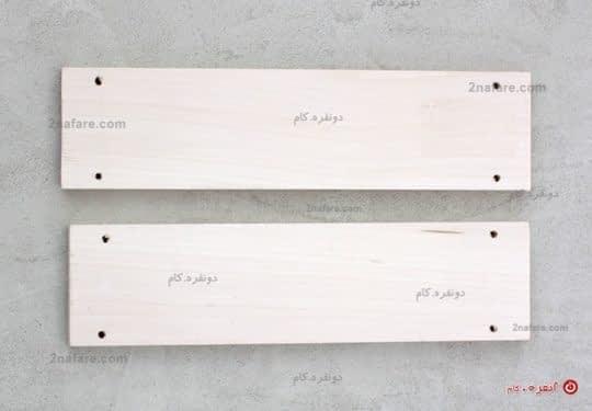 چهار طرف صفحه ی چوبی رو برش بدید