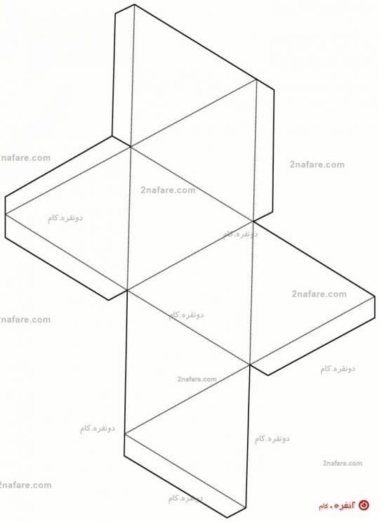 الگوی جعبه ی کادوی هندسی