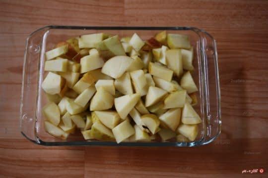 خرد کردن سیب ها