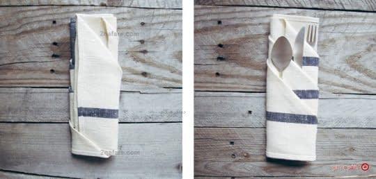 روش تا کردن دستمال سفره مجلسی