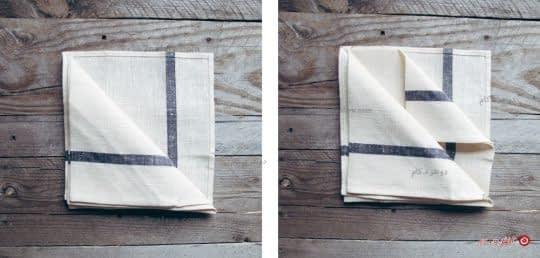 روش تا کردن دستمال سفره