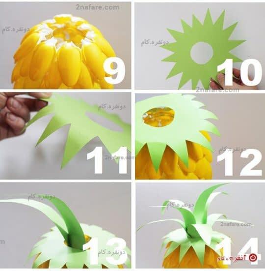 روش ساخت چراغ خواب آناناس
