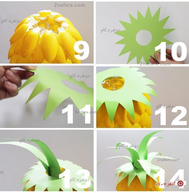 روش سبزه سبز در تنگ ماهی روش ساخت چراغ خواب آناناس