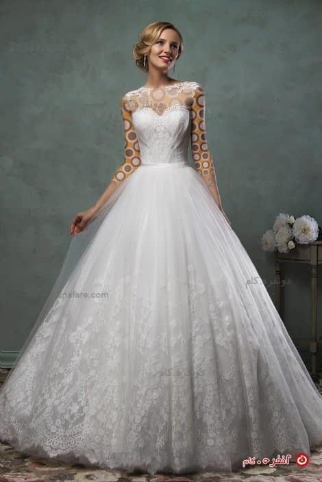 لباس عروس پفی تور