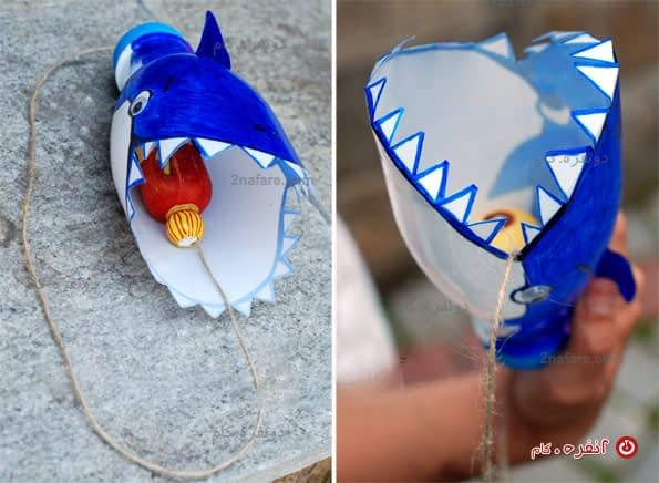 بازی نهنگ و ماهی با بطری