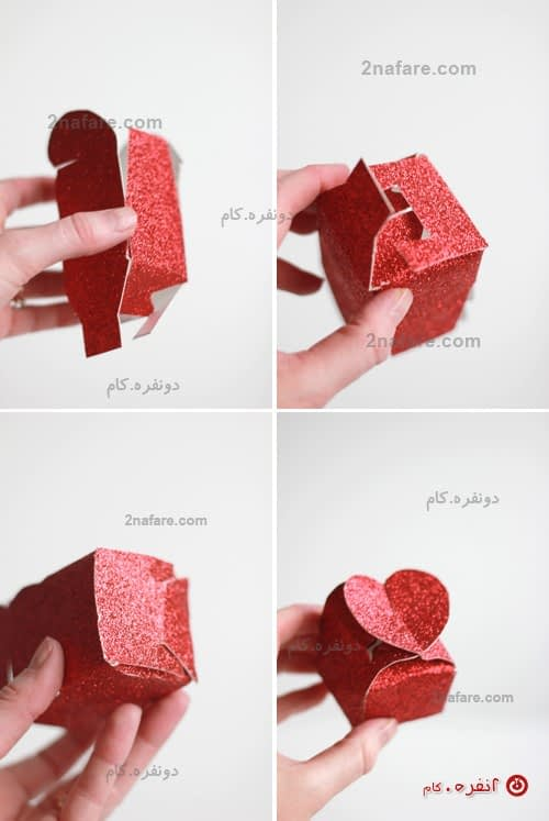 جعبه کادو قلب