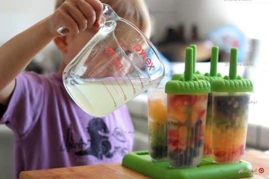 اضافه کردن آب میوه