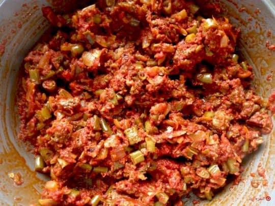 مواد لوبیا پلو