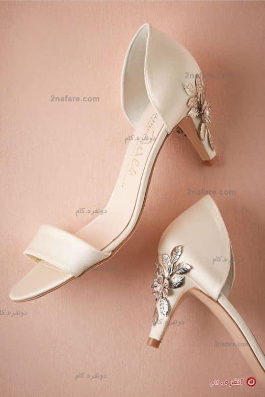 کفش عروس با پاشنه ۳ سانتی