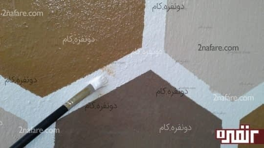 با یک قلموی کوچک قسمت های نا مرتب رنگ شده رو مرتب کنید
