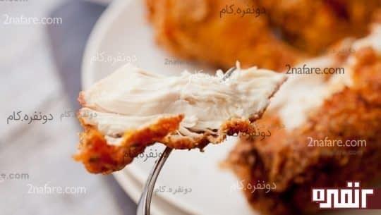برش مرغ سوخاری