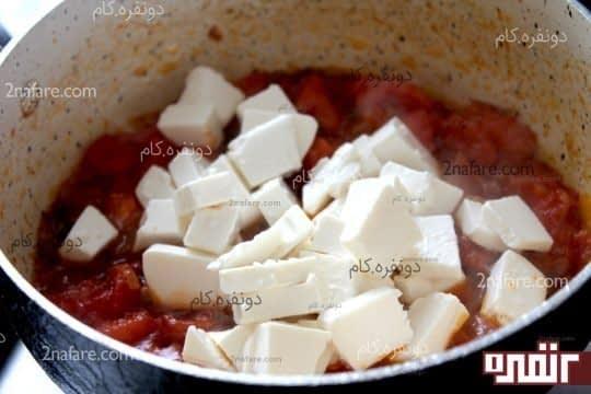 اضافه کردن پنیر ها