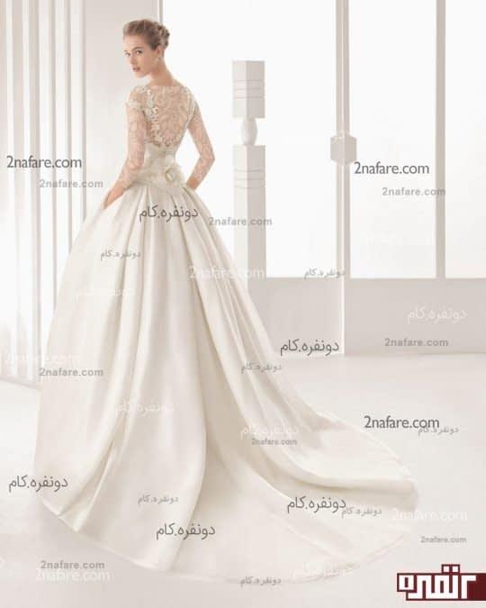 لباس عروس با بالاتنه دانتل