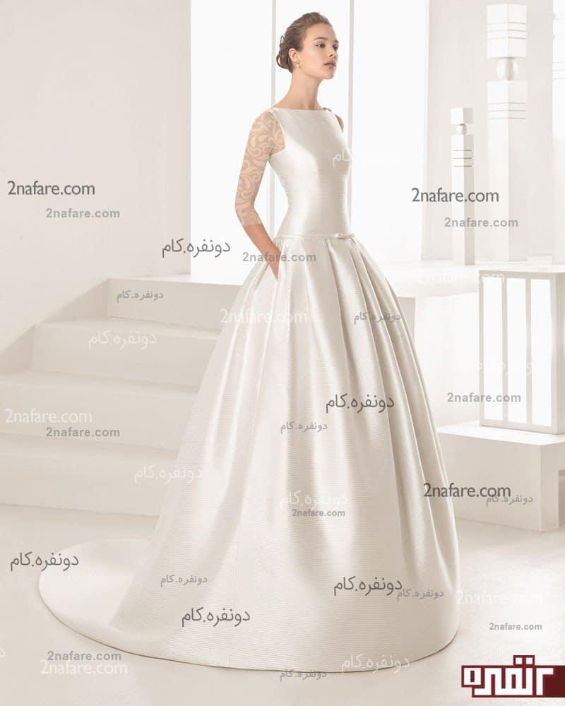 پارچه دانتل لباس عروس لباس عروس های شیک خیلی جدید با دامن پفی زیبا • دونفره