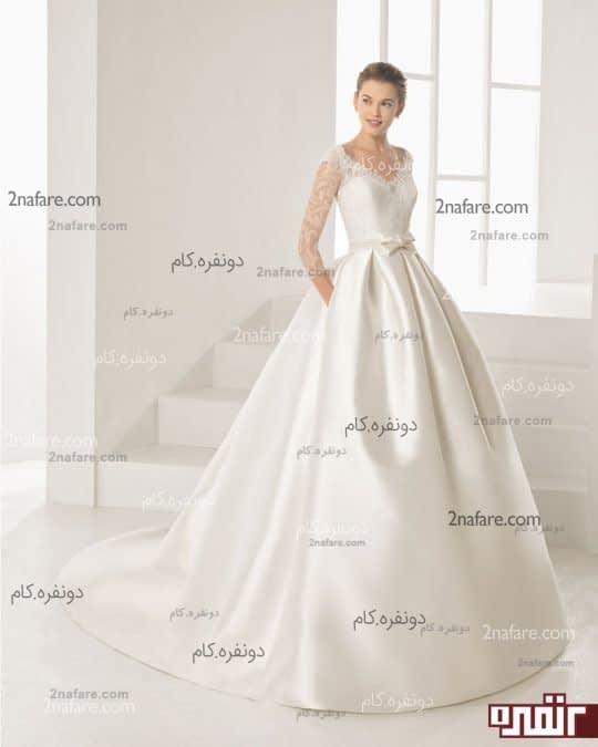لباس عروس با دامن پفی مدل جدید