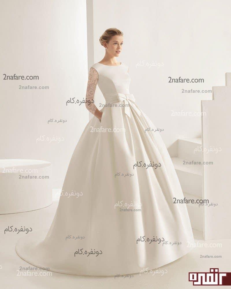 پارچه دانتل لباس عروس لباس عروس جدید پشت دانتل