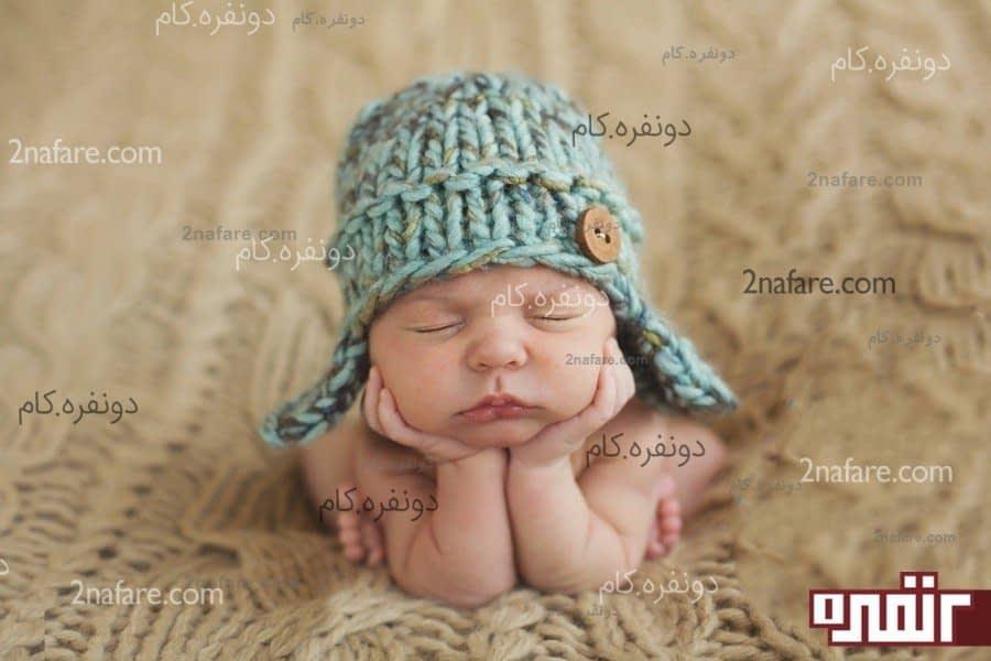 اموزش درست کلاه پسرونه مدل های زیبای کلاه بافت برای نوزاد • دونفره