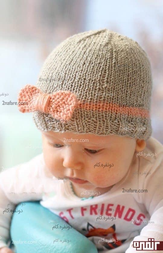 مدل کلاه زیبای دخترانه بافت